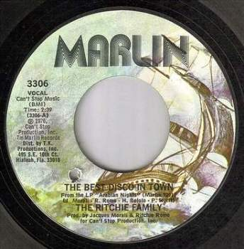 RITCHIE FAMILY - THE BEST DISCO IN TOWN - MARLIN
