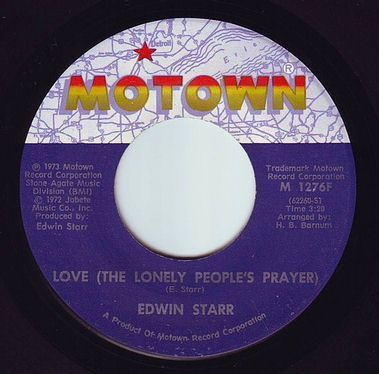 EDWIN STARR - LOVE (THE LONELY PEOPLE'S PRAYER) - MOTOWN