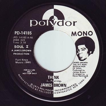 JAMES BROWN - THINK - POLYDOR DEMO
