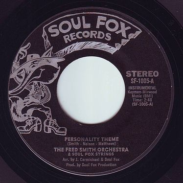 FRED SMITH ORCHESTRA - PERSONALITY THEME - SOUL FOX