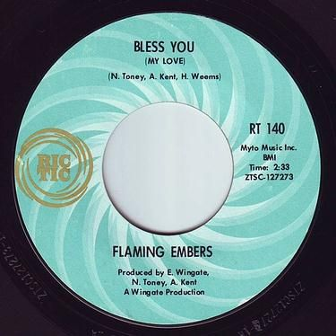 FLAMING EMBERS - BLESS YOU (MY LOVE) - RIC-TIC 140