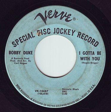 BOBBY DUKE - I GOTTA BE WITH YOU - VERVE DEMO