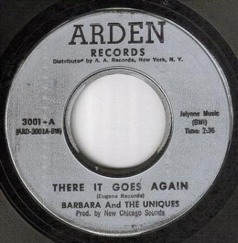 BARBARA & UNIQUES - THERE IT GOES AGAIN - ARDEN