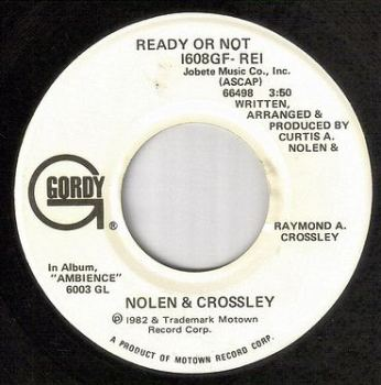 NOLEN & CROSSLEY - READY OR NOT - GORDY dj