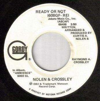NOLEN & CROSSLEY - READY OR NOT - GORDY dj
