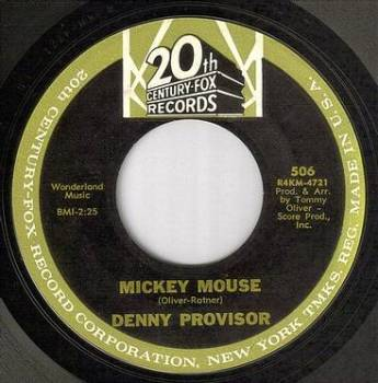 DENNY PROVISOR - MICKEY MOUSE - 20TH CENTURY