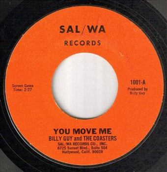 BILLY GUY and the COASTERS - YOU MOVE ME - SAL/WA