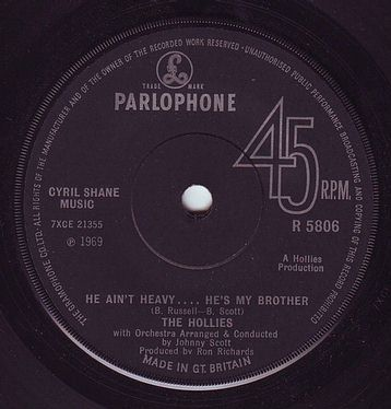 HOLLIES - HE AIN'T HEAVY . . . . HE'S MY BROTHER - PARLOPHONE