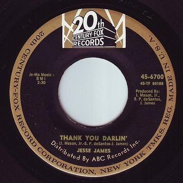 JESSE JAMES - THANK YOU DARLIN' - 20TH CENTURY FOX