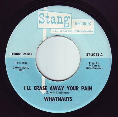 WHATNAUTS - I'LL ERASE AWAY YOUR PAIN - STANG