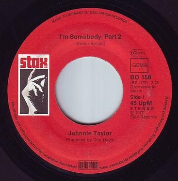 JOHNNIE TAYLOR - I AM SOMEBODY, PART 2 - STAX