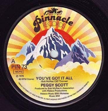 PEGGY SCOTT - YOU'VE GOT IT ALL - PINNACLE
