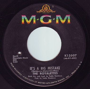 ROYALETTES - IT'S A BIG MISTAKE - MGM