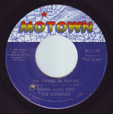 DIANA ROSS & THE SUPREMES - I'M LIVING IN SHAME - MOTOWN
