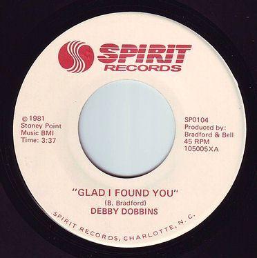 DEBBY DOBBINS - GLAD I FOUND YOU - SPIRIT