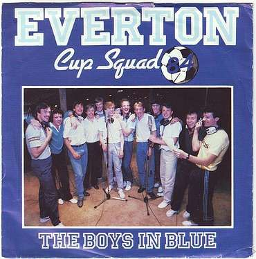 EVERTON CUP SQUAD - THE BOYS IN BLUE - PRT