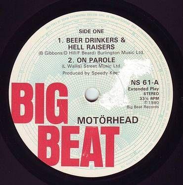 MOTORHEAD - BEER DRINKERS & HELL RAISERS - BIG BEAT