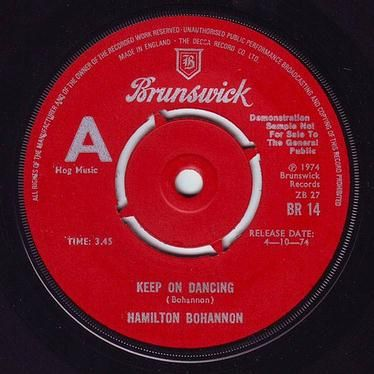 HAMILTON BOHANNON - KEEP ON DANCING - BRUNSWICK DEMO