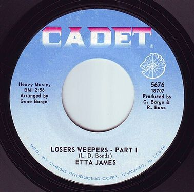 ETTA JAMES - LOSERS WEEPERS - CADET