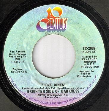 BRIGHTER SIDE OF DARKNESS - LOVE JONES - 20TH CENTURY