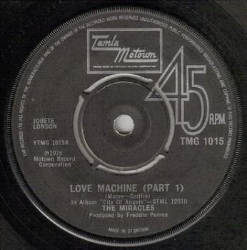 MIRACLES - LOVE MACHINE - TMG 1015