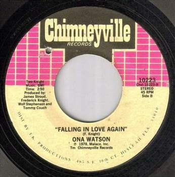ONA WATSON - FALLING IN LOVE AGAIN - CHIMNEYVILLE