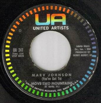 MARV JOHNSON - (Youv'e Got To) MOVE TWO MOUNTAINS - UA