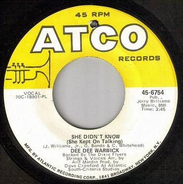 DEE DEE WARWICK - SHE DIDN'T KNOW - ATCO