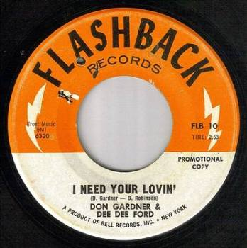 DON GARDNER & DD FORD - I NEED YOUR LOVIN - FLASHBACK dj
