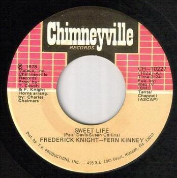 FREDERICK KNIGHT & FERN KINNEY - SWEET LIFE - CHIMNEYVILLE
