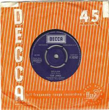 TOM JONES - DELILAH - DECCA
