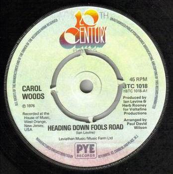 CAROL WOODS - HEADING DOWN FOOLS ROAD - 20TH CENTURY