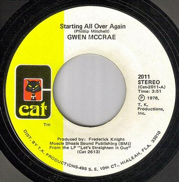 GWEN MCCRAE - STARTING ALL OVER AGAIN - CAT