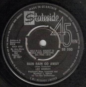 LEE DORSEY - RAIN RAIN GO AWAY - STATESIDE