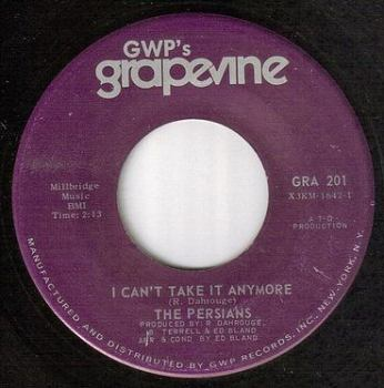 PERSIANS - I CAN'T TAKE IT ANYMORE - GWP's GRAPEVINE