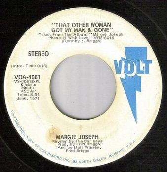 MARGIE JOSEPH - THAT OTHER WOMAN GOT MY MAN & GONE - VOLT DJ