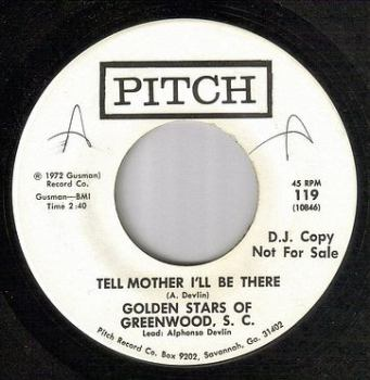 GOLDEN STARS OF GREENWOOD, S.C. - TELL MOTHER I'LL BE THERE - PITCH DJ