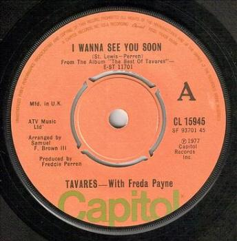 TAVARES & FREDA PAYNE - I WANNA SEE YOU SOON - CAPITOL