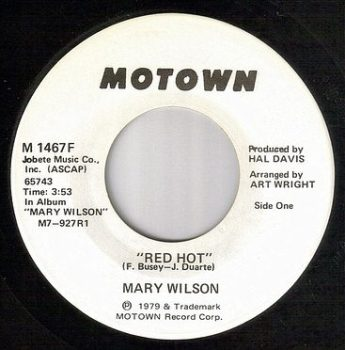 MARY WILSON - RED HOT - MOTOWN DJ