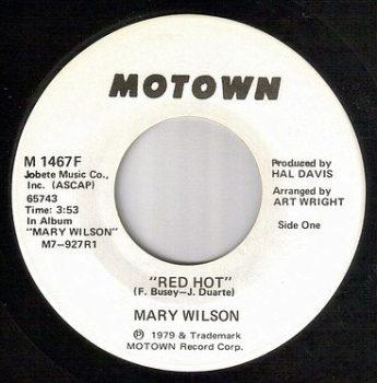 MARY WILSON - RED HOT - MOTOWN DJ