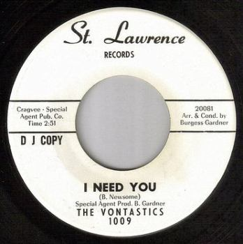 VONTASTICS - I NEED YOU - ST LAWRENCE DJ