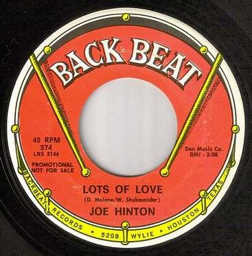 JOE HINTON - LOT'S OF LOVE - BACK BEAT DJ