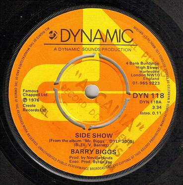 BARRY BIGGS - SIDE SHOW - DYNAMIC