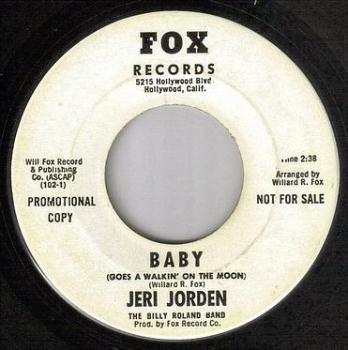 JERI JORDEN - BABY (GOES A WALKIN' ON THE MOON) - FOX DJ