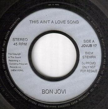 BON JOVI - THIS AIN'T A LOVE SONG - POLYGRAM DJ