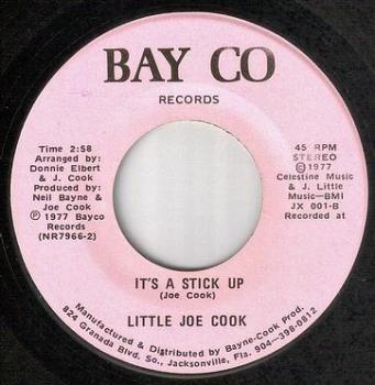 LITTLE JOE COOK - IT'S A STICK UP - BAY CO