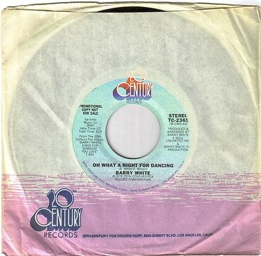 BARRY WHITE - OH WHAT A NIGHT FOR DANCING - 20TH CENTURY DJ