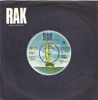 RUBY JAMES - YOU BURN A HOLE IN MY SOUL - RAK DJ