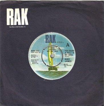 RUBY JAMES - YOU BURN A HOLE IN MY SOUL - RAK DJ