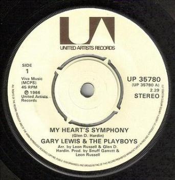 GARY LEWIS - MY HEART'S SYMPHONY - UA